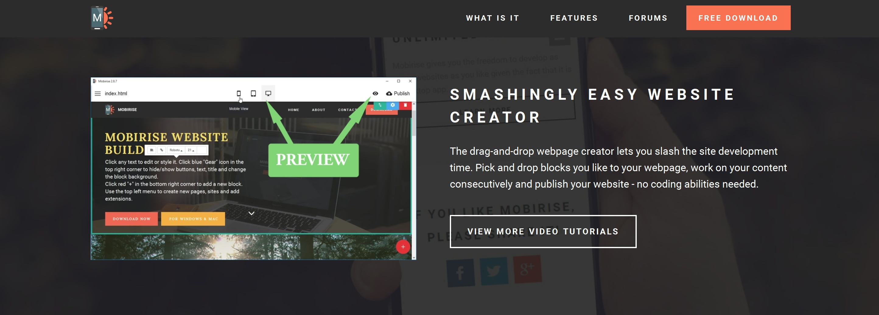 Free and Easy Website Builder Tool