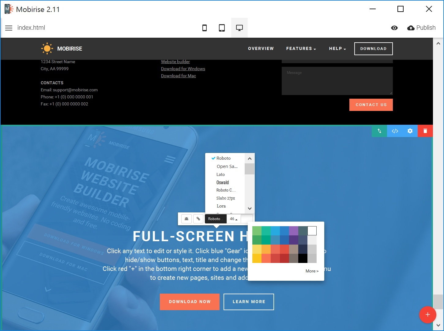 Free HTML5 Web Page  Creator Review