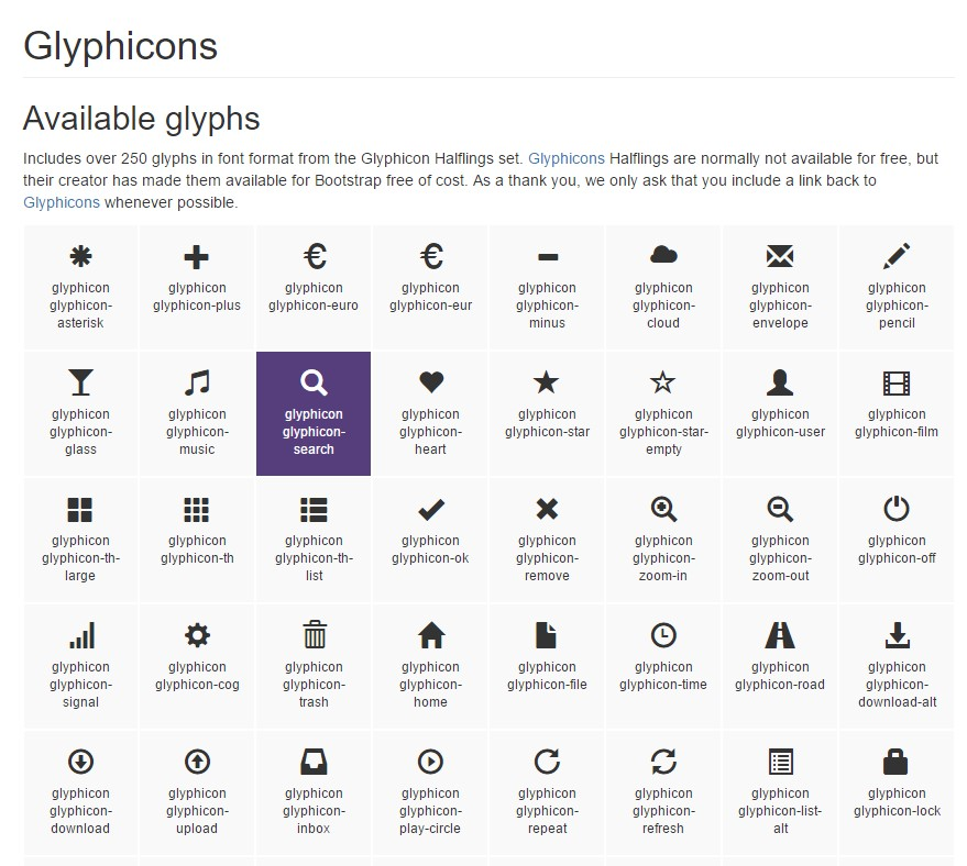 Bootstrap Icons  approved documentation