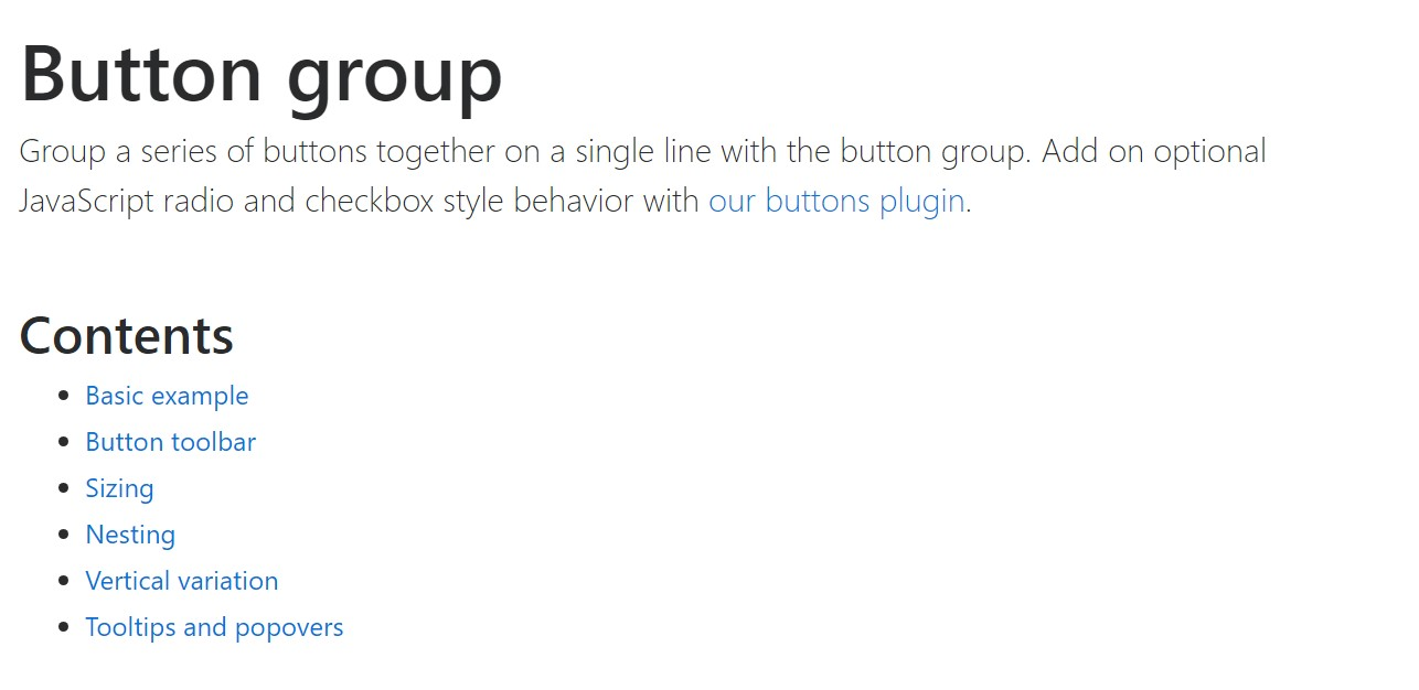 Bootstrap button group official  documents