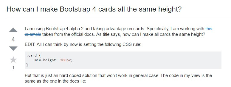 Insights on how can we form Bootstrap 4 cards just the same tallness?