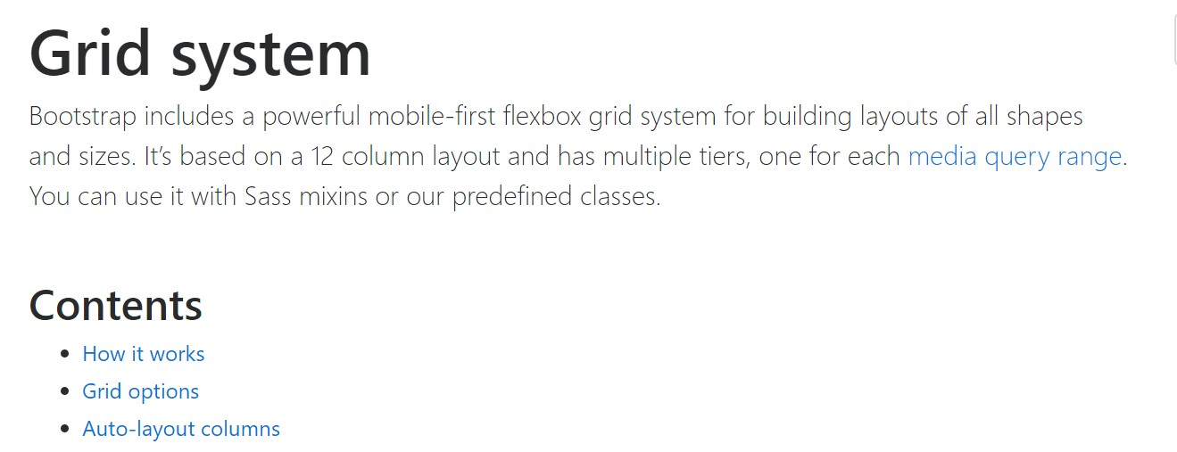 Bootstrap 4 Grid system:  formal  documents