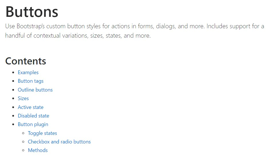 Bootstrap toggle  approved documentation