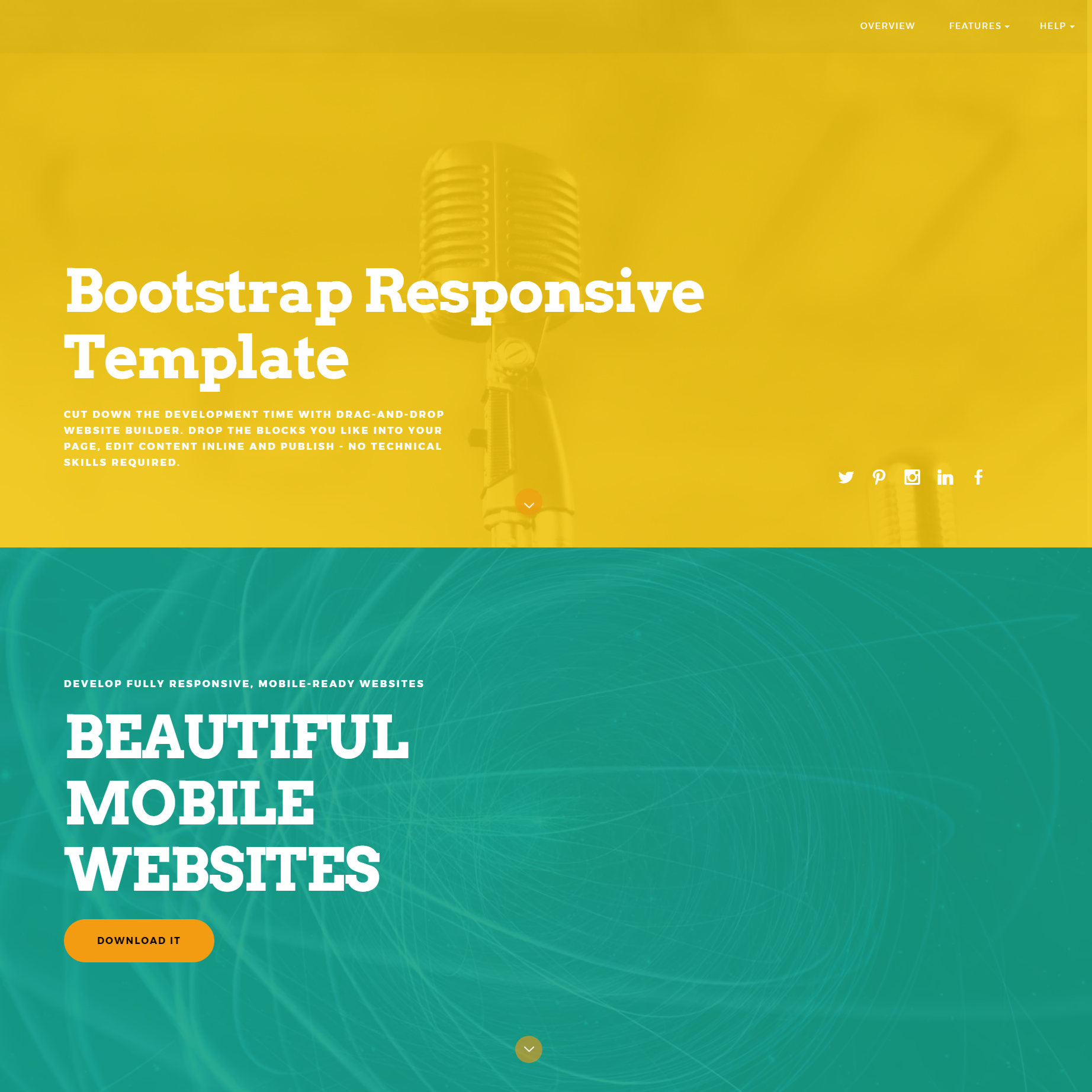 Responsive Bootstrap ColorM Templates