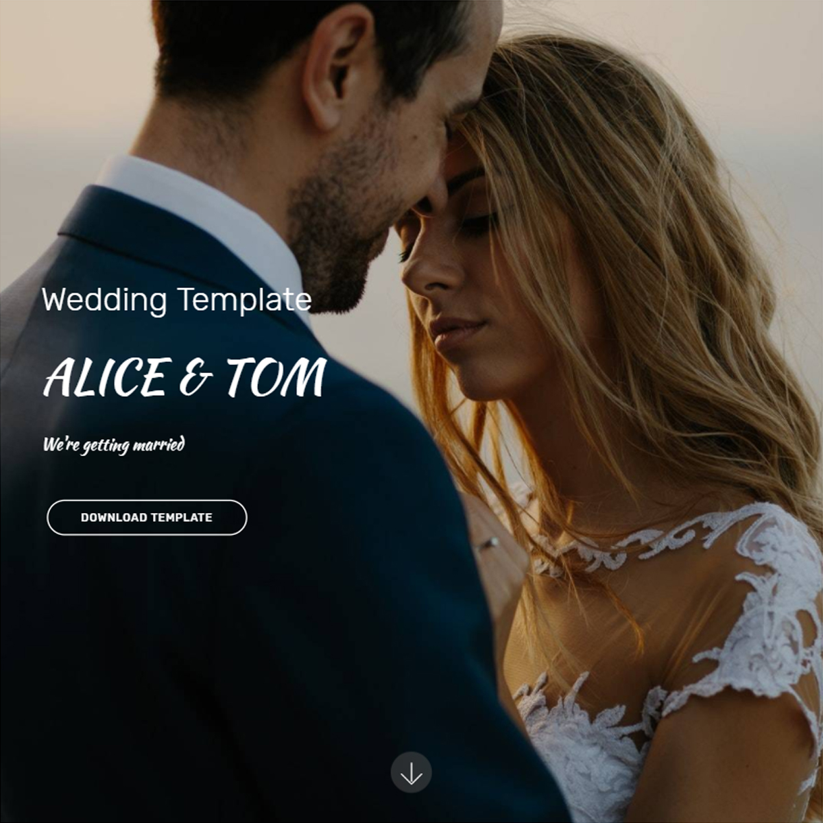 Free Bootstrap Wedding Templates