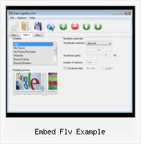 Embed FLV No Controls embed flv example
