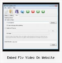Psd to HTML Video embed flv video on website