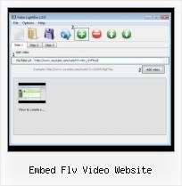 HTML Object Video embed flv video website