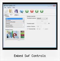 SWFobject Alternate Content embed swf controls