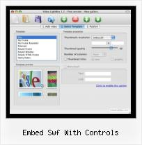 jQuery Para Video embed swf with controls