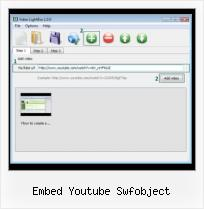 Web Based FLV Player embed youtube swfobject