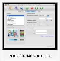 SWF in HTML embed youtube swfobject
