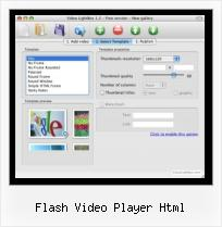 SWFobject Height Width flash video player html
