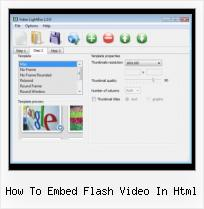 HTML Video Popup how to embed flash video in html