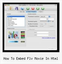 SWFobject Video Player how to embed flv movie in html