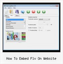 How to Insert SWF File in HTML how to embed flv on website