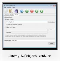 Embed FLV As3 jquery swfobject youtube