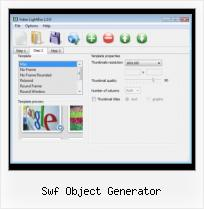 How to Embed FLV to Web Page swf object generator