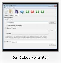 Javascript Video Program swf object generator