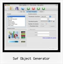 HTML Video New Window swf object generator