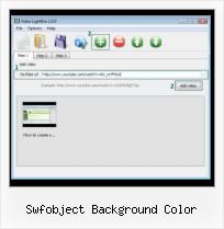 HTML Adding Video swfobject background color