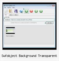Video HTML Webpage swfobject background transparent