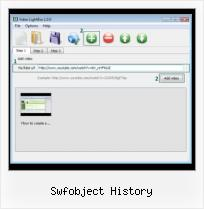 SWFobject Getplayerversion swfobject history