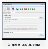 Video HTML Posting swfobject onclick event