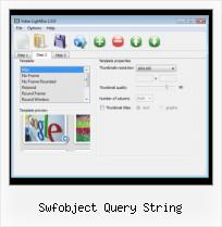 HTML Upload Video swfobject query string