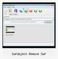 Javascript SWFobject Function swfobject remove swf