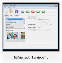 How to Put Video in HTML swfobject sendevent