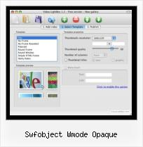 How to Embed Myspace Video in Ppt swfobject wmode opaque