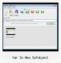 Video HTML Text var so new swfobject